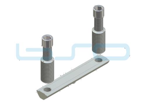 CEV-Verbinder Nut 8 doppelt Raster 40 L=80mm Edelstahl Potentialausgleichend