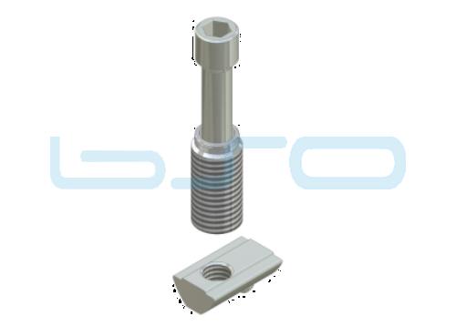 Combi-Einschraubverbinder Nut 8 Raster 40