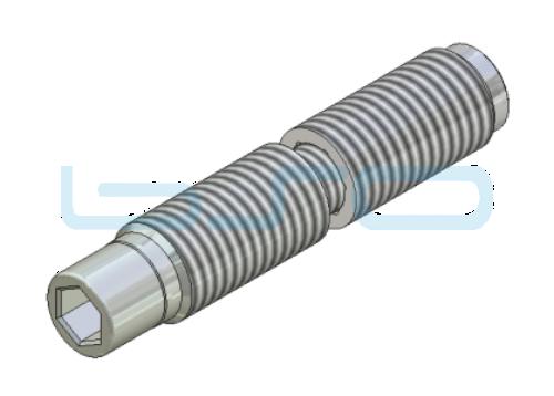 Combi-Einschraub Stoßverbinder Edelstahl 180° Nut 8 Raster 40