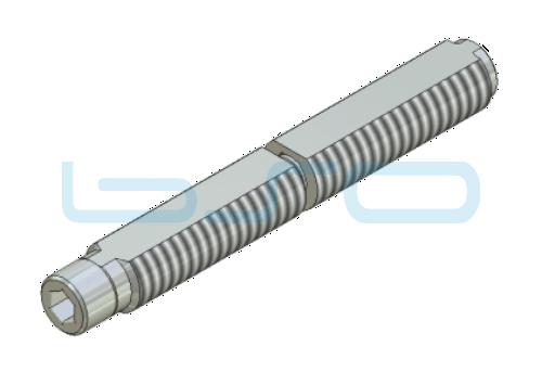Combi-Einschraubverbinder Nut 5 Stoßverbinder 180°