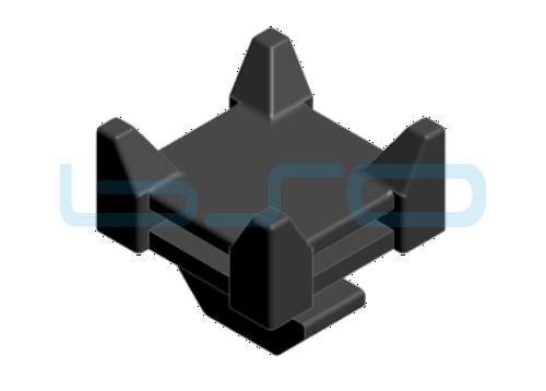 Kabelbinder-Sockel Kreuz mit Hammer PA schwarz Nut8 30
