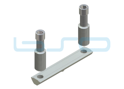 CEV-Verbinder Nut 8 doppelt Raster 40 Nutenstein L=80mm