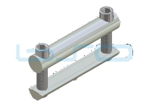 Profilverbinder Raster 80 L=80mm M8 Edelstahl potentialausgleichend