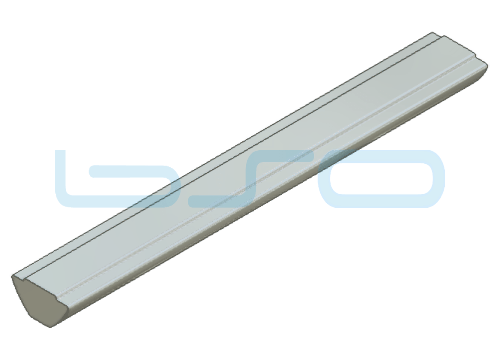 Nutensteinprofil Nut 8 Raster 30 Profilstab L=1000mm ohne Zentrierung