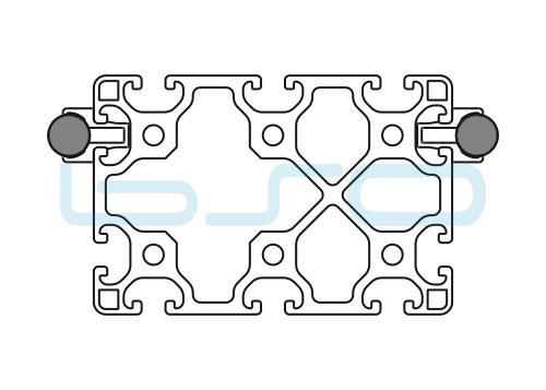 Schlitten Trägersystem Welle 14 Profil 80x120 leicht-h