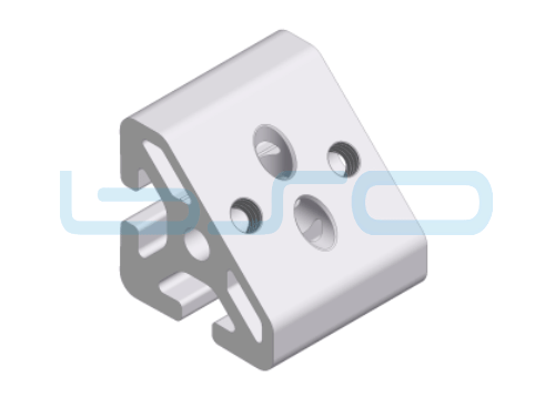 Winkel-Profilelement Nut 8 L=40mm 45 Grad