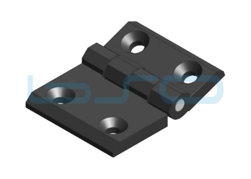 Scharnier 63x50 Zink-Druckguß schwarz