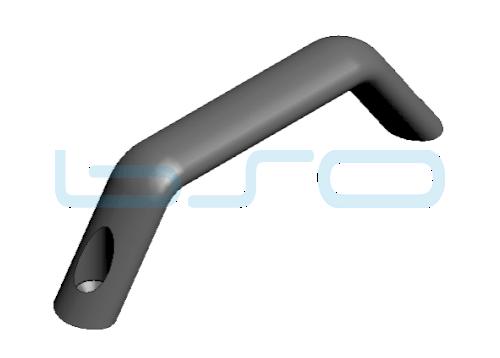 Handgriff Aluminium schwarz (Frontbefestigung)