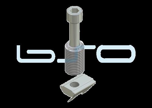 Combi-Einschraubverbinder Nut 10 Raster 45 D=14mm potentialausgleichend