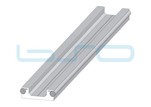 Linearprofil 20x58 Unterteil mit Führungsschienen