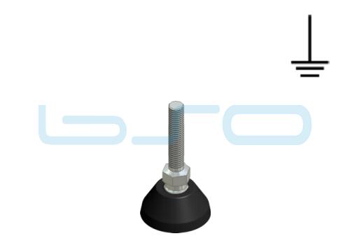 Stellfuß PA 40 M10x45 elektrisch leitend