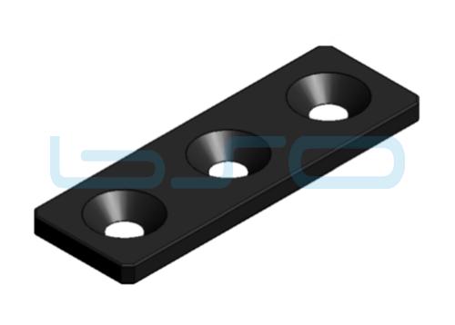 Verbindungslasche Stahl Nut 6 30x90x4