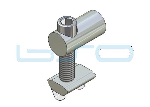Profilverbinder einseitig Nut 10 Raster 45 Gewinde M8