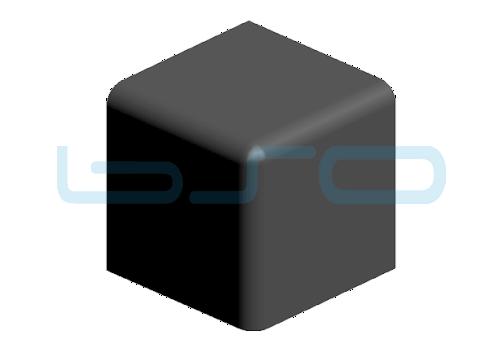 Abdeckkappe Vierkant-Eckwinkel Nut 8 30x30 3x90°