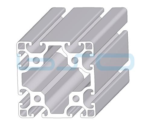 Alu-Profil Nut 8 80x80 leicht natur ESD