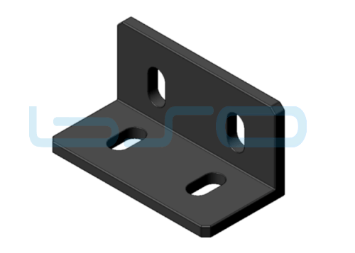 Winkel Stahl Nut 8 40x80 Langloch