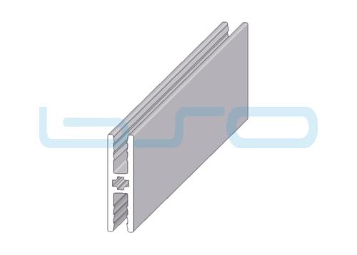 Plattenklemmprofil 8x30 H-Profil 180°