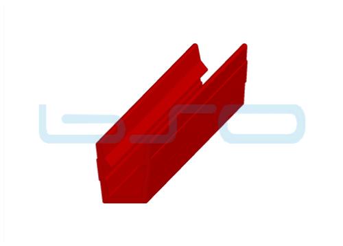 Abdeck-Einfaßprofil Nut 8 Raster 40 u. 30 PP rot