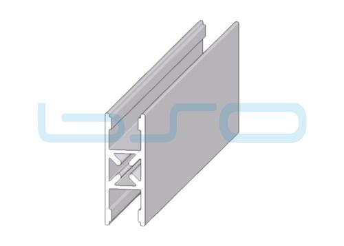 Plattenklemmprofil Nut 10 H-Profil 180°