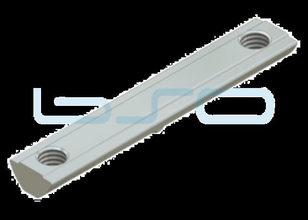 Nutenstein Profilverbinder Nut 8 Raster 40 Gewinde 2xM8 L=80mm Edelstahl
