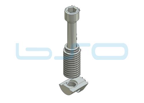 Combi-Einschraubverbinder Nut 6 mit Nut 10 Raster 45