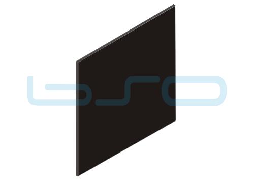 Vollkunststoffplatte schwarz beidseitig Melaminharz beschichtet 4mm