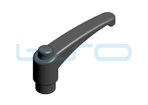 Klemmhebel verstellbar Außengewinde M 8x16 PA