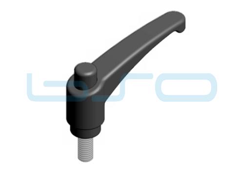Klemmhebel verstellbar Außengewinde M 8x35 Zn
