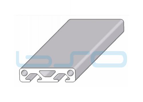 Alu-Profil Nut 5 40x10 1-seitig abgedeckt