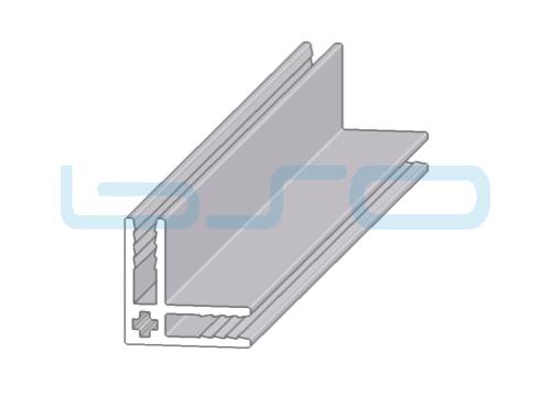 Plattenklemmprofil 8x20x20 Eck-Profil 90°