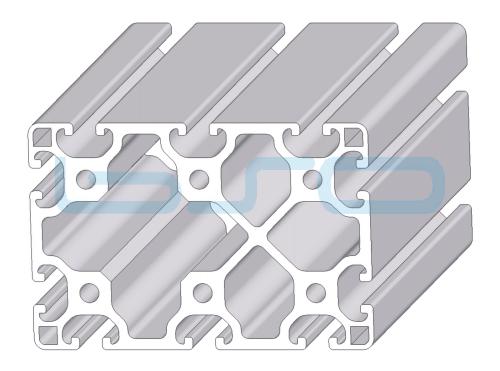 Alu-Profil Nut 8 80x120 leicht