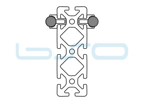Schlitten Trägersystem W 14 Profil 40x120 schwer-v