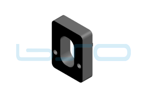Distanzplatte für Klemmblock 5mm Nut 8 R40 u. 30 oder Nut 10