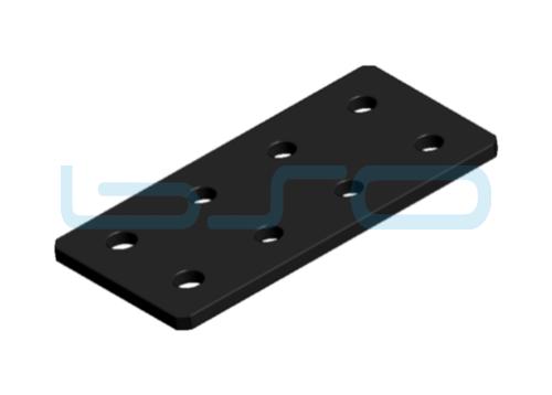 Verbindungslasche Stahl Nut 6 60x120x4