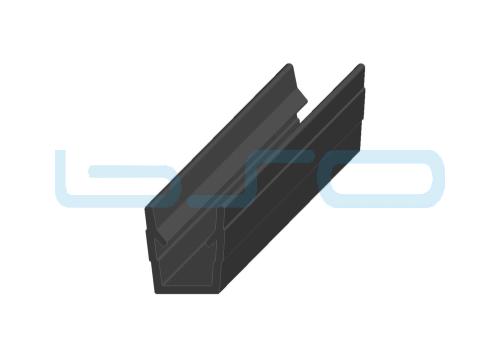 Abdeck-Einfaßprofil Nut 8 Raster 40 u. 30 PP schwarz