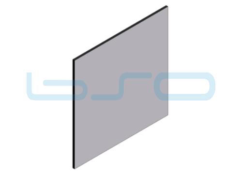 Alu-Verbundplatte beidseitig lackiert 6mm silber