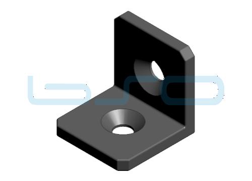 Winkel Stahl Nut 8 30x30