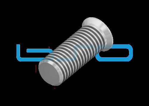 Selbstformende Schraube Senkkopf 7x20 Stahl verzinkt Nut 8 Raster 30 u. 40