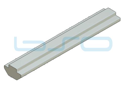 Nutensteinprofil schwer Nut 8 Raster 40 Profilstab L=1950mm mit Zentrierung