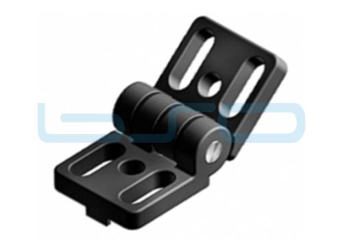 Scharnier Nut 8 40x80 Druckguß-Alu schwarz
