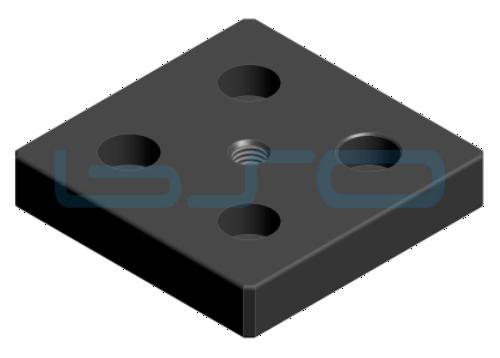 Transport- und Fußplatte Aluminium Nut 8 80x80 M10