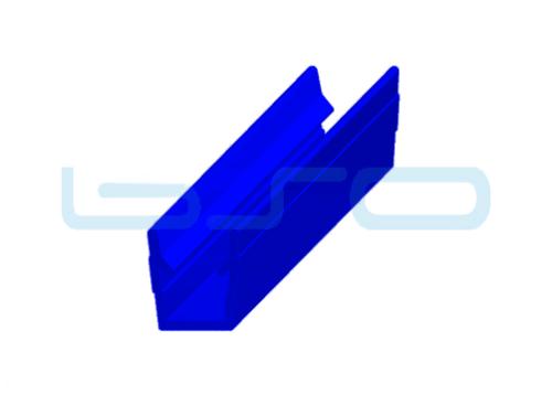 Abdeck-Einfaßprofil Nut 8 Raster 40 u. 30 PP blau