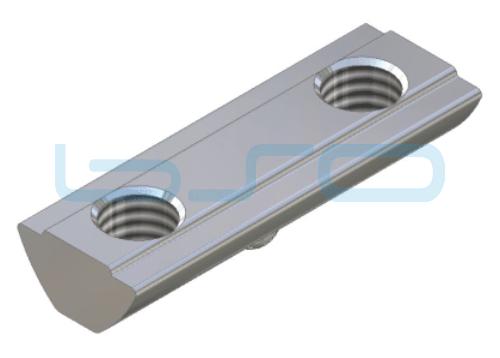 Nutenstein Profilverbinder Nut 8 Raster 40 Gewinde 2xM8 L=40mm Edelstahl