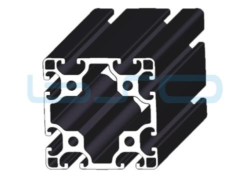 Alu-Profil Nut 8 80x80 leicht schwarz eloxiert