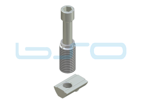 Combi-Einschraubverbinder Nut 8 Raster 40 Potentialausgleichend