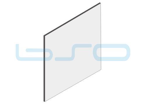 Vollkunststoffplatte grau beidseitig Melaminharz beschichtet 4mm