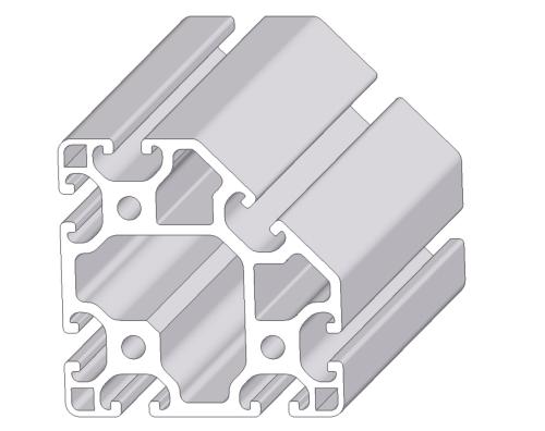 Alu-Profil Nut 8 80x80 leicht 45°