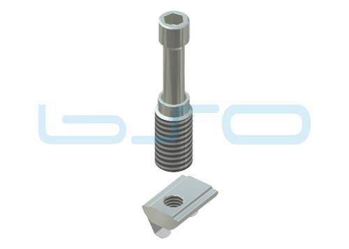 Combi-Einschraubverbinder Nut 10 Raster 45 D=12mm potentialausgleichend