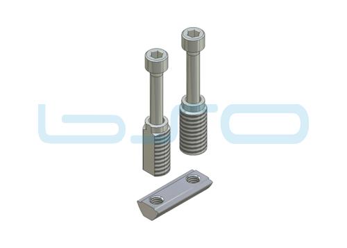 Combi-Einschraubverbinder Nut 5 doppelt Hülsenlänge 14 mm