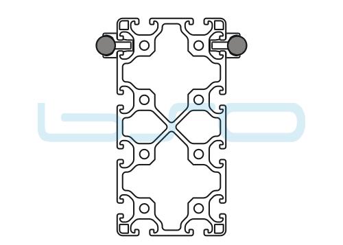 Schlitten Trägersystem Welle 14 Profil 80x160 leicht-v